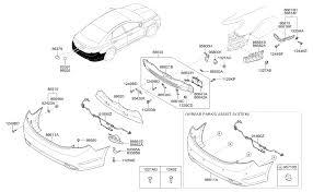 95720 3v005 v5g genuine hyundai ultrasonic sensor assy bws 2011 hyundai azera rear bumper diagram 8686611