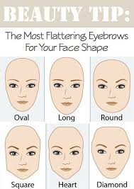 the most flattering eyebrows for your face shape