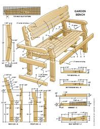 garden seat design plans. bench measurements plan example 3 garden furniture designs seat design plans r