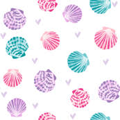 Seashell Design Seashell Fabric Wallpaper Gift Wrap Spoonflower