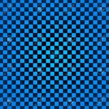 Checker Pattern Gorgeous Blue Checker Pattern Cubes Background 48d Render Illustration Stock