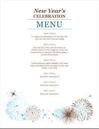 new year s template new years party menu