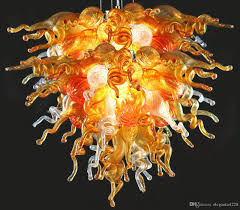 hand lighting. Moroccan Colorful Italian Glass Lamps Elegant Chihuly Style Hand Blown Art Office Murano Chandelier Lighting Fixtures Pendant Lamp Shade