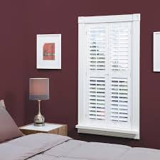 home basics plantation faux wood white interior shutter varies by size