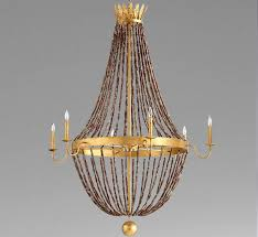 alessia 6 light extra large wood and iron chandelier