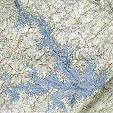 Smith Lake Depth Chart Smith Mountain Lake Map Color 2018