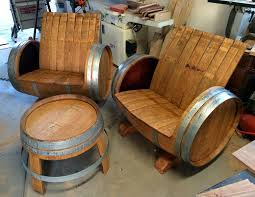 wine barrell furniture. Simple Barrell Wine Barrel Chairs And Table Inside Barrell Furniture U
