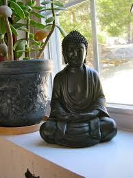 buddha statue meditating black buddhist