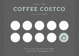 loyalty card template gray coffee loyalty card templates by canva