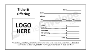 Tithe Envelopes Template | Remittance Envelopes Template
