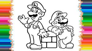 Mario Luigi Coloring Book L Coloring Pages Super Mario Videos For