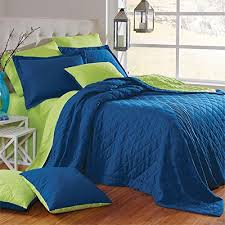blue and green bedding. Fine And Brylanehome Studio Quilted Reversible Bedspread Ocean Blue Green  AppleQueen Intended And Bedding 0