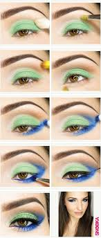 blue and green eye makeup tutorial