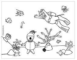 Small Picture Pages Under the Sea Coloring Pages pictures books sheets