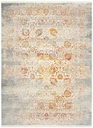 grey saffron orange and gray rug blue