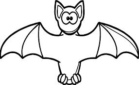 Bat Coloring Page Pages Bats S Printable Baseball And Ball