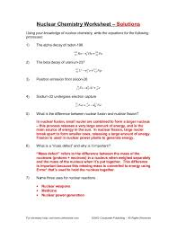 worksheets for all and share worksheets free on notes on nuclear fission
