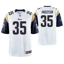 C Angeles Los Jersey j White Rams Game Anderson 35