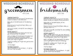 Wedding Timeline Template 8 Wedding Day Timeline Template