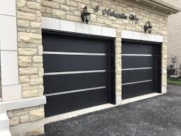 stainless steel strip modern garage doors