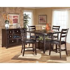 ashley dining room table set. dining room ideas, enchanting dark brown square modern wooden ashley furniture sets stained table set