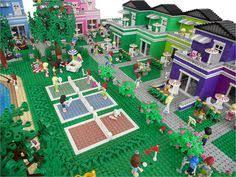 lego friends themed custom rainbow holiday center by anne mette lego vrac club lego