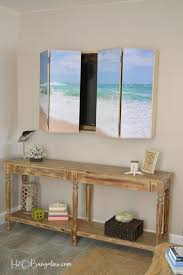 Free plans for a DIY wall mounted tv cabinet. Build a cabinet to hide the