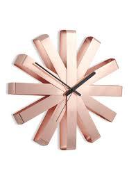 <b>Часы настенные Ribbon</b>, <b>медь</b> купить оптом со склада в Москве ...