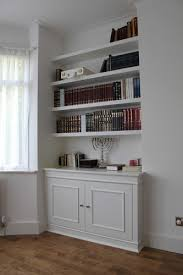 fitted alcove bookcase hendon fitted bookshelves