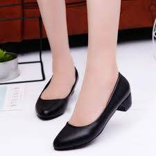 3cm work shoes female black s low heel work shoes going to work leather shoes hotel interview block heel shoes women s shoes malaysia