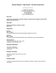 Little Experience Resume Free Resume Example And Writing Download