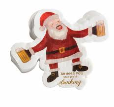<b>Drinking Santa</b> Paper Napkins Shop Mud Pie Now! | Mud Pie