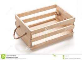 Wooden Crate With Handles Wood Box With Rope Handles Stock Photo Image 55065175
