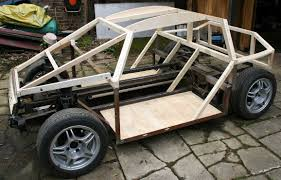 city sports car coach work build a timber framed wooden diy electric dune buggy
