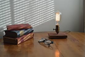 custom made barnwood table lamp edison lamp industrial mid century lamp