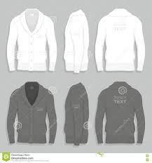 Cardigan Design Template Men Cardigan Design Template Stock Vector Illustration Of