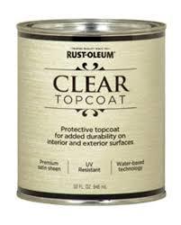 rust oleum reg metallic accents clear satin top coat