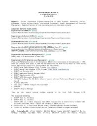 Unix System Administrator Resume Unix Administrator Resume Manager