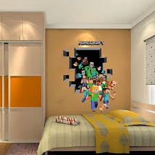 Beautiful 2017 New Minecraft 3D Wall Sticker For Kids Room Wallpaper Home Decoration  Game Minecraft Enderman Wall