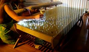 Interactive Coffee Table The Wave Interactive Led Coffee Table Cool Hunting