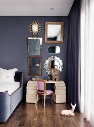 Mirror grouping on wall Silver Purple Velvet French Chair Corner Decoarting Inspiration Design Ideas Mirror Grouping Gallery Wall Daybed Purple Bedroom Shop Room Ideas Purple Velvet French Chair Corner Decoarting Inspiration Design