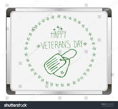 Happy Veterans Day Hand Lettering On Stock Vector Royalty