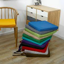 chair seat pads outdoor tie on uk
