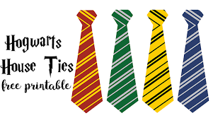 free printable hogwarts house ties for your harry potter party use as party favors