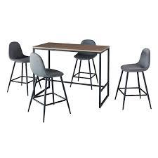 CUISINE Ensemble table haute (mange debout, bar) + 4 chaises hautes...