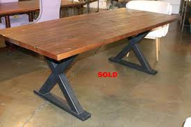 modern table base metal and wood dining table base reclaimed custom modern round dining table base