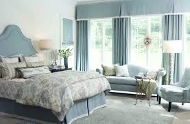 bedroom white wall and shabby blue fabric curtains on the hook and shabby white bedding