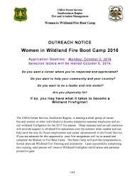 Fillable Online Fs Usda Women In Wildland Fire Boot Camp Fs Usda