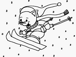 Kleurplaat Olympische Spelen Afbeelding Kleurplaat Ski Winter