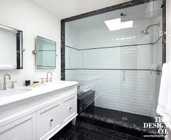 subway tile bathrooms black and white shower with beveled subway tiles white subway tile bathroom black grout